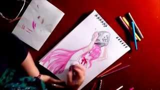 Dibujando a Lucy - Elfen Lied / Drawing Lucy - Elfen Lied
