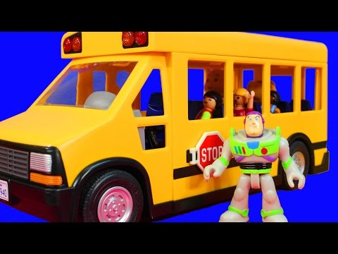 Thumbnail: Wheels On The Bus Go Round and Round Nursery Rhymes Daniel Tiger Caillou Toy Story Buzz Lightyear