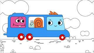 Мультфильм про машинки -  Грузовичок Пик - Раскраска - Медленная улиточка -  учим цвета