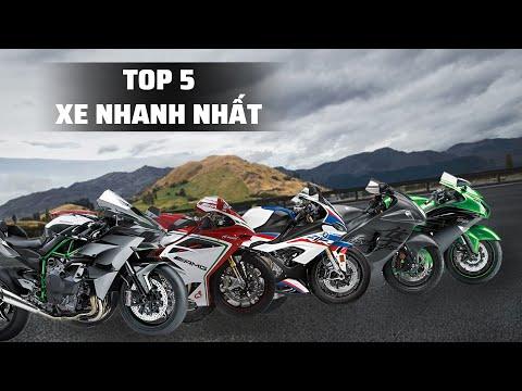 Top 5 chiếc xe moto nhanh nhất thế giới năm 2020 | Kawasaki Ninja H2R đứng ở vị trí số 1