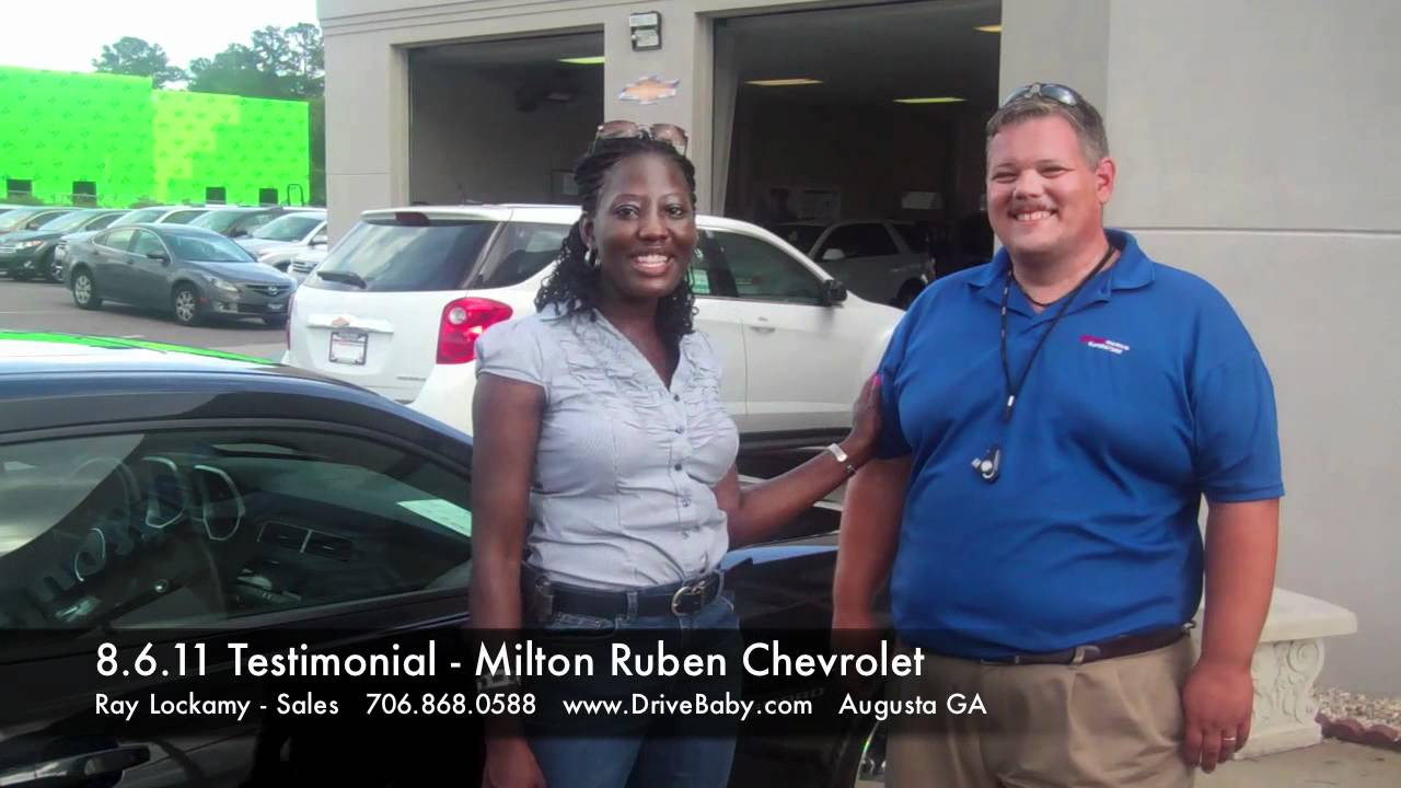 8.6.11 Testimonial For Milton Ruben Chevrolet In Augusta GA