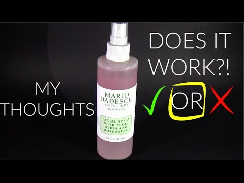 Mario Badescu Rosewater Facial Spray Product Review Youtube