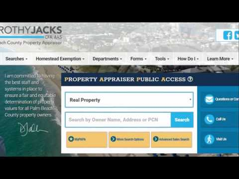 PBC Property Appraiser's Office - PAPA Website Redesign - Classic PAPA feature