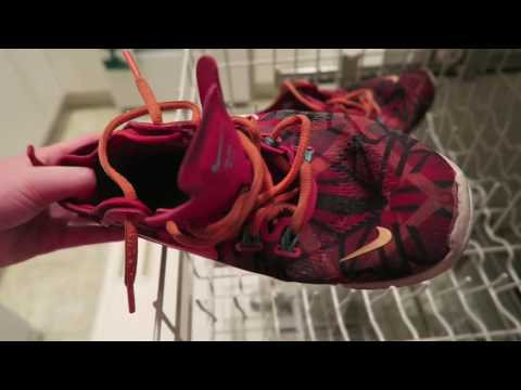The EASIEST way to wash your shoes! (In The Dishwasher?) | Actually Meg