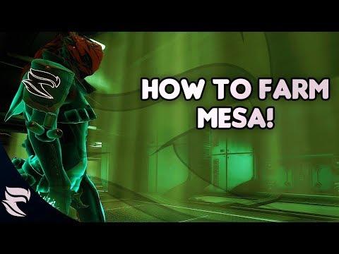 Warframe: How to farm Mesa 2018 thumbnail