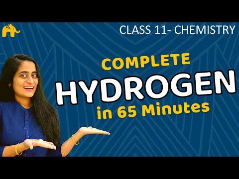 Hydrogen Class 11 Chemistry | One Shot | CBSE NEET JEE