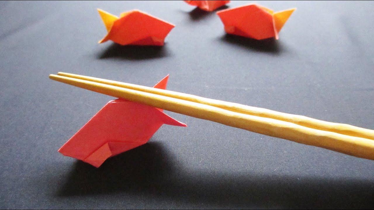 すべての折り紙 折り紙で作る箸置き : ... 折り紙で作る箸置き~8月金魚