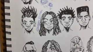 (RE-UP) How to Draw (manga style) Black People