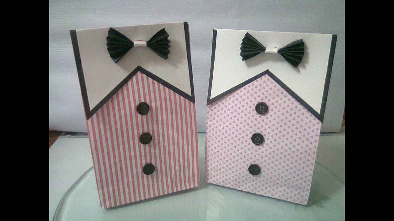 DIY : #4 Cute Paper Bags For Gift ♥ - YouTube