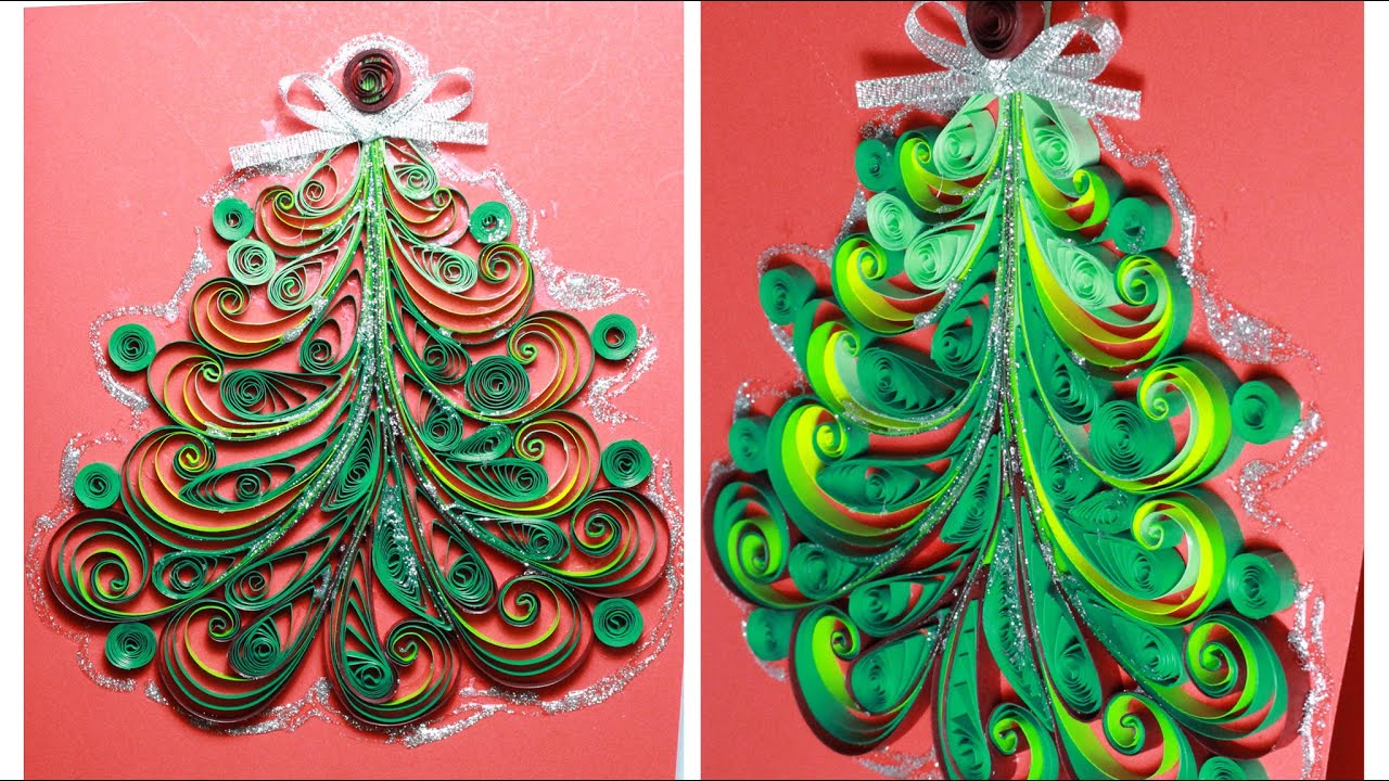 Paper Quilling Christmas Tree Tutorial YouTube