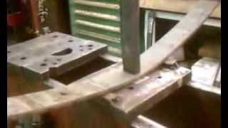 Rearching leaf springs, very fast way in muffler shop bender