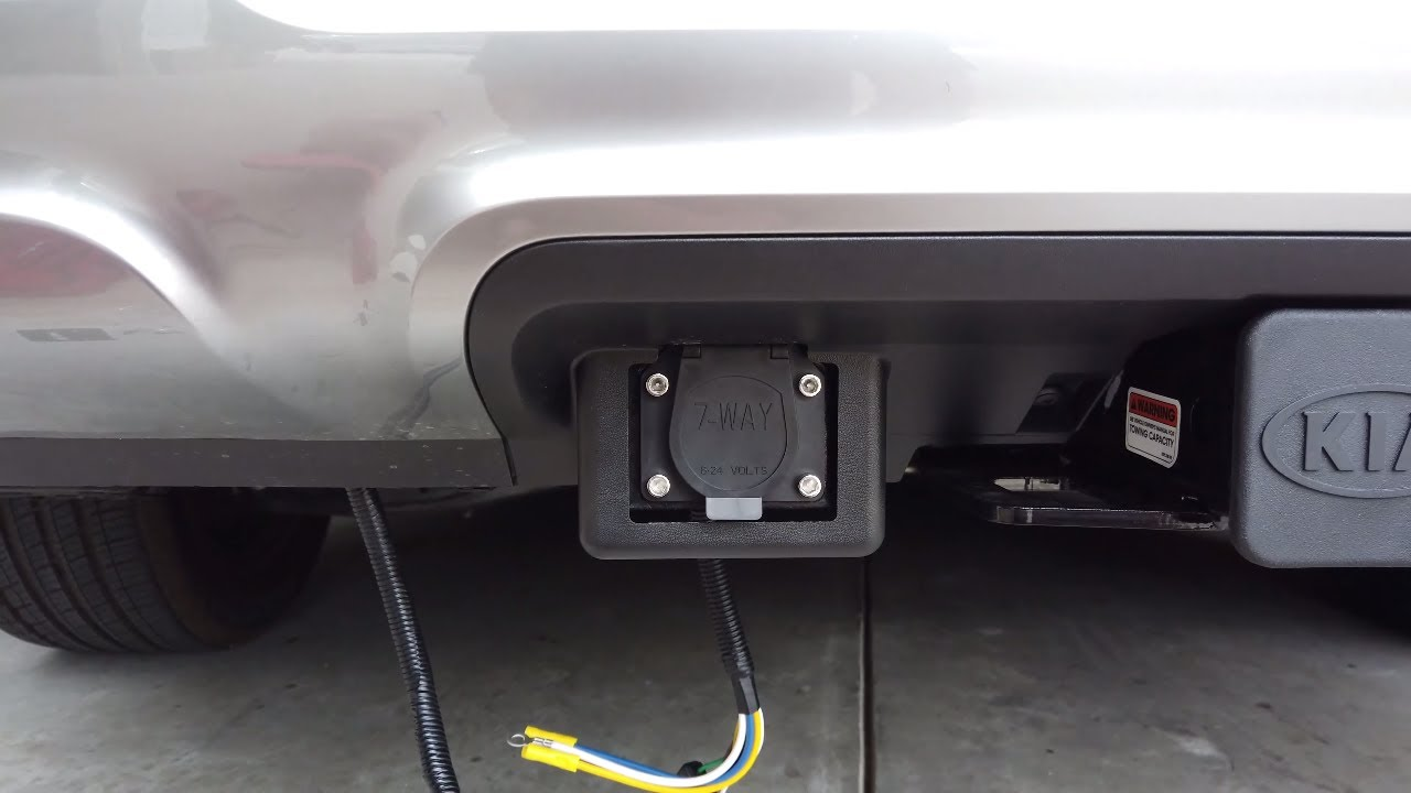 7 Pin Wire Harness And Brake Controller On Kia