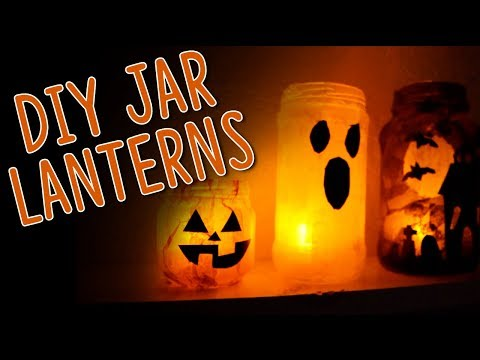 DIY: Easy Halloween Luminaries || Actually Alli