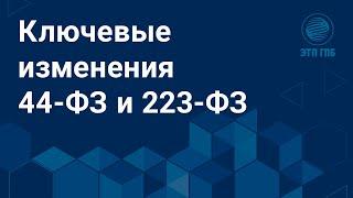 Ключевые изменения 44 ФЗ и 223 ФЗ для участников закупок