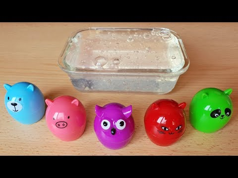 CLEAR SLIME Mixing Animals Lip Balm