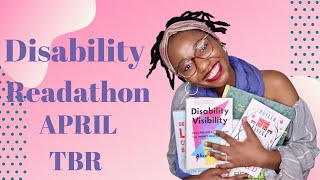 Disability Readathon April TBR || South African Booktuber || South African YouTuber