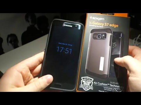 new style 8f8d9 7c9b2 Spigen Slim Armor Case for Samsung Galaxy S7 Edge Review | Cracked ...