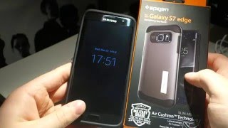 spigen slim armor case for samsung galaxy s7 edge review   cracked my screen protector