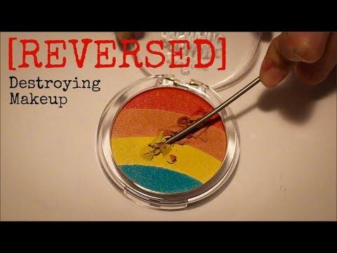 REVERSE Makeup Destroying  Satisfying ASMR