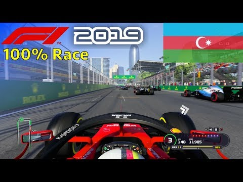 F1 2019 - 100% Race At Baku City Circuit In Vettel's Ferrari