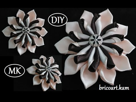 how to make ribbon work flowers