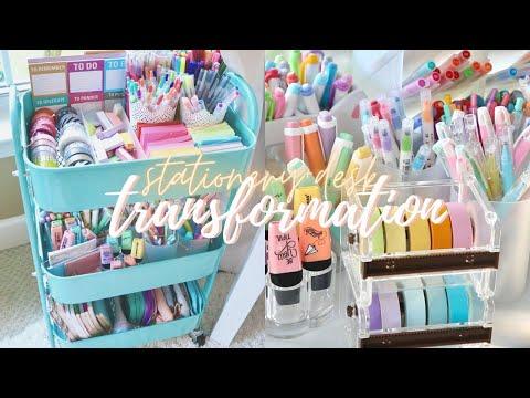 Desk + stationery organization makeover ✨🍃