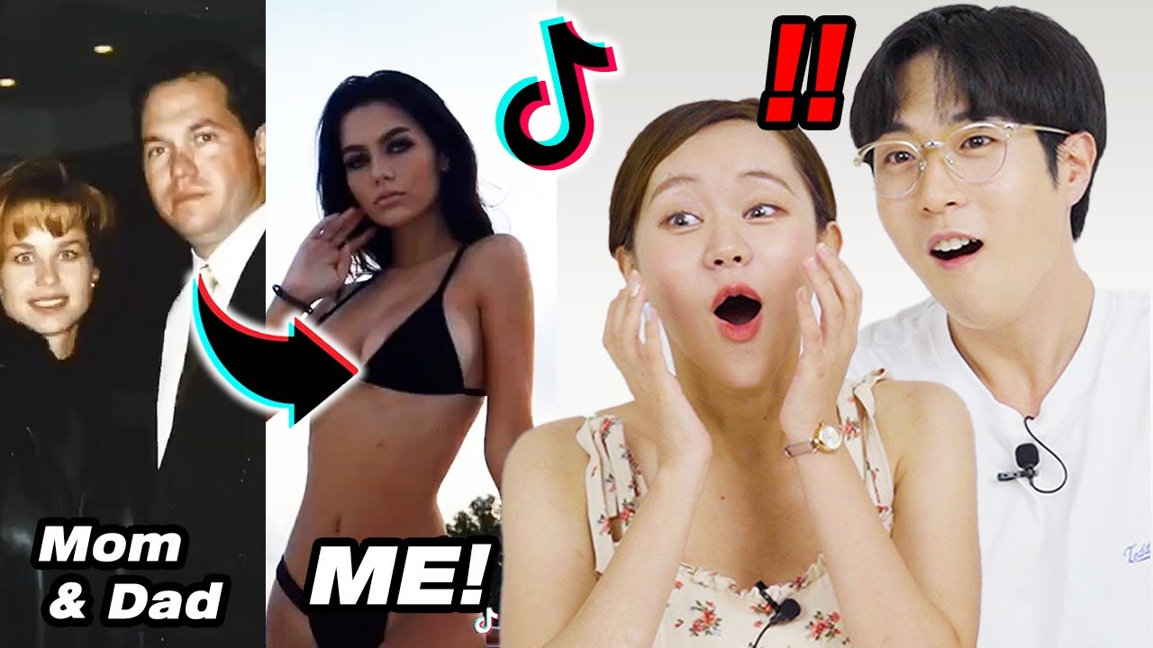 Koreans Guy & Girl React To TikTok 'Show Your Parents And What They Created'!