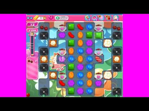 Candy Crush Saga level 2491 ~ NO BOOSTERS ~ 3 stars