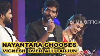 Nayantara Chooses Vignesh over Allu Arjun