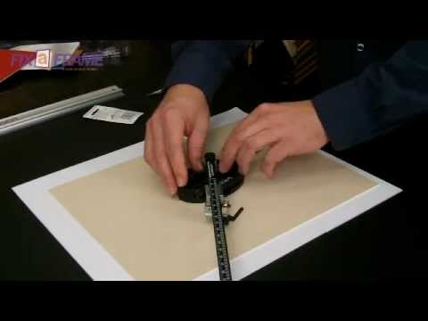 How To Cut Oval Picture Frame Mat Boards Logan Oval Mat Cutter Youtube