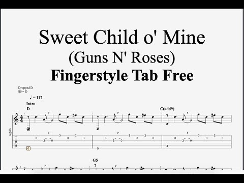 Sweet Child O' Mine (Guns N' Roses) - Fingerstyle Tab