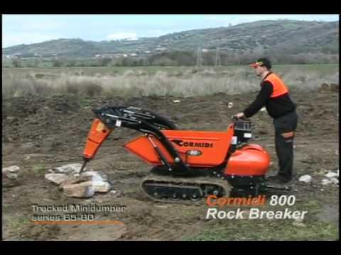 cormidi motocarriole cingolate con martello demolitore