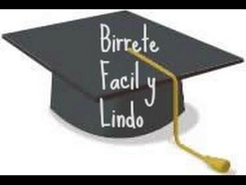 Haz un Birrete de Graduacion de Foami-FACIL Y LINDO - YouTube 3387410705f