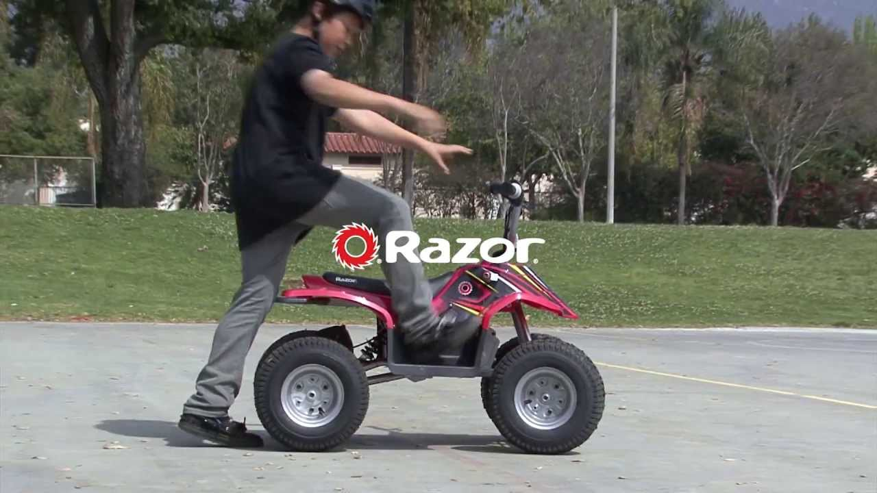 ultimate guide to razor dirt quad 1 electric four wheeler for kids 2018 [ 1280 x 720 Pixel ]