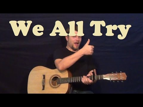 We All Try (Frank Ocean) Easy Strum Guitar Lesson Chords Licks How To Play We All Try Tutorial
