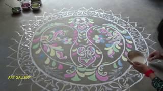 Colourful Rangoli for Diwali, Beautiful Alpana for Dipabali,दीवाली के लिए रंगीन रंगोली