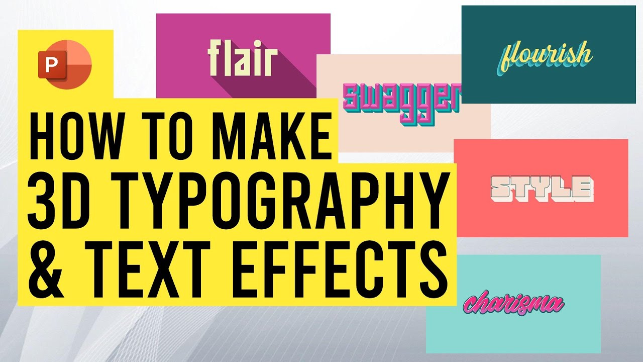 Create 3D typography & Text Effects in PowerPoint {Tutorial & free download}