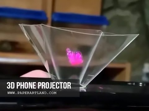 BLOW YOUR MIND! How to make a Smart Phone Hologram Projector (Fast Speed)
