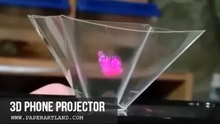 How to make a Smart Phone 3D Projector (Fast Speed)