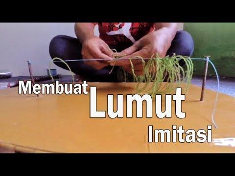 CARA MEMBUAT PANCING LUMUT BUATAN ( LUMUT SINTETIS / LUMUT IMITASI )