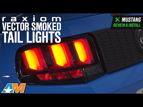 2010-2012 Mustang Raxiom Vector Smoked Tail Lights - White Diffusers Review & Install