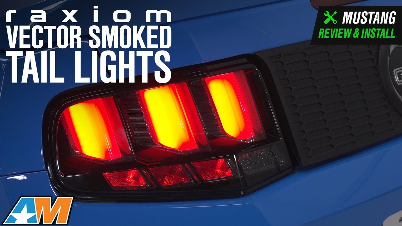 2010 2012 Mustang Raxiom Vector Smoked Tail Lights White Diffusers