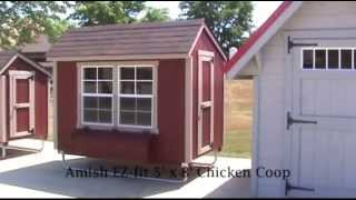 Amish Ez-fit 5' X 8' Chicken Coop