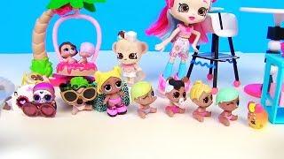 Куклы Лол Сюрприз! Сладкие качели мультик lol Surprise Doll! Shopkins Видео для детей