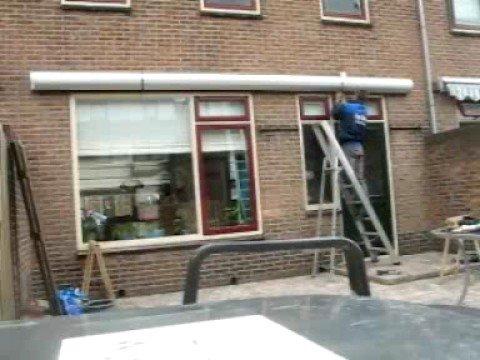 Genoeg Van Dam zonwering Montage knikarmscherm - YouTube WY74