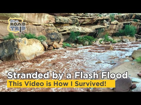 Stranded by a Flash Flood while Camping in southern Utah