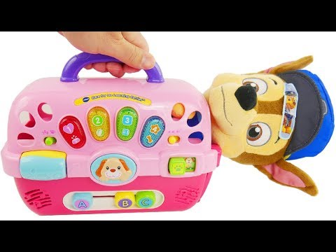Thumbnail: Learn Color Videos for Kids Paw Patrol Skye & Chase Pet Dog Carriers Playset