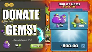 LET'S DONATE GEMS TO MY CLANMATES ; LEVEL 10 CELEBRATION | SEE CLANMATES REACTION