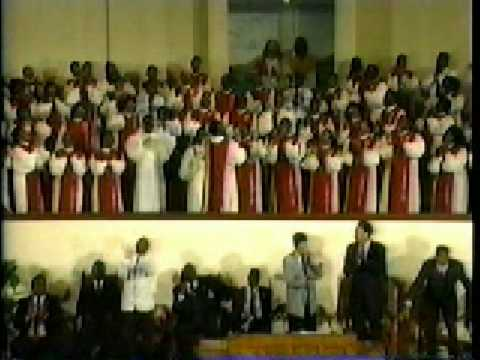 the late Phillip Britton directing the Greater St Stephen Mass Choir in 1991 pt 1