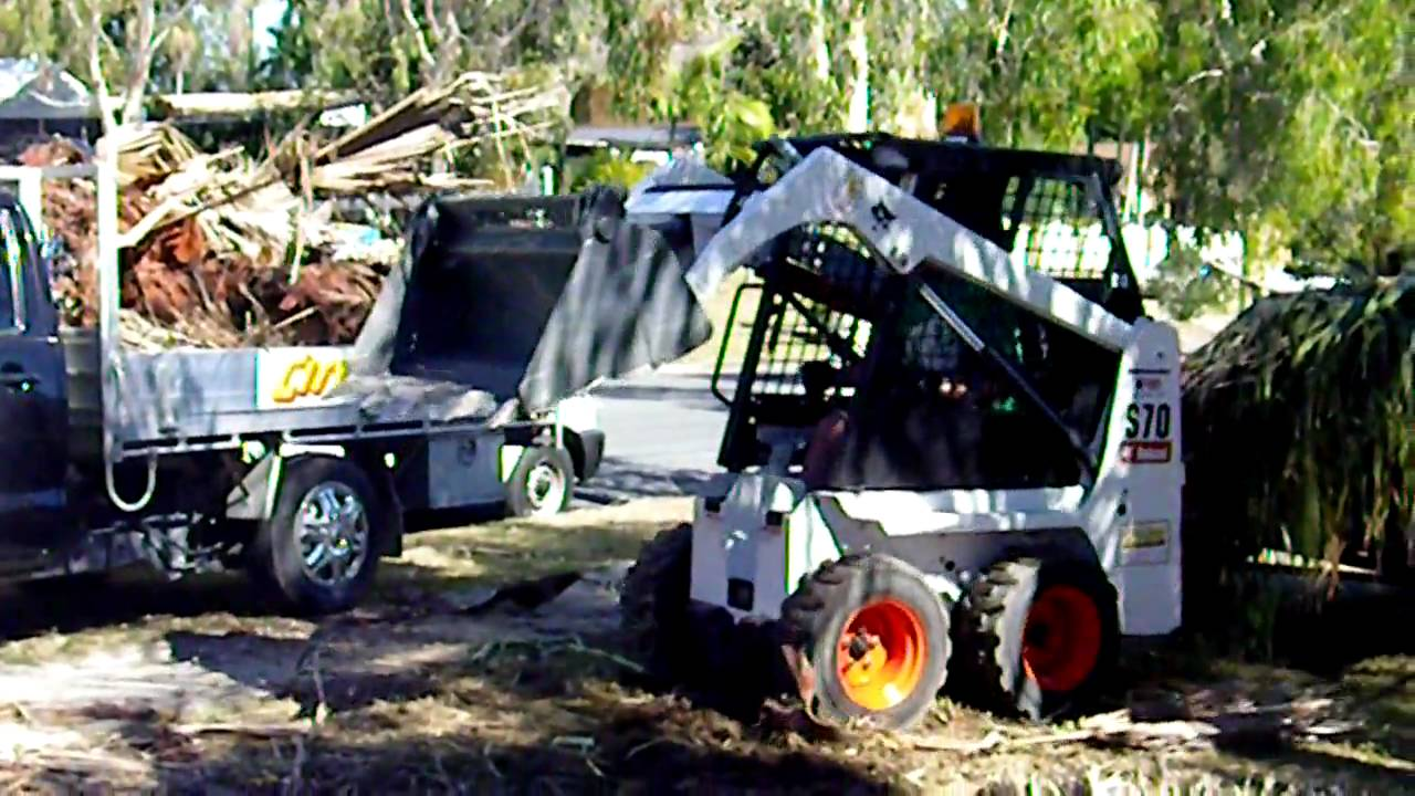 Easy Site Clean up with Bobcat S70 hired from City Hire - YouTube